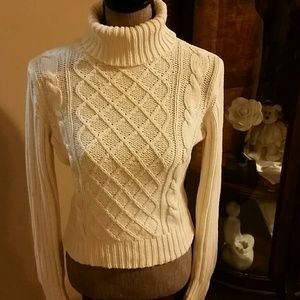 Women's Cable Knit Turtleneck Sweater